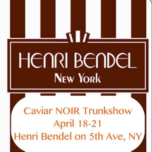 Caviar Noir Trunk Show Henri Bendel
