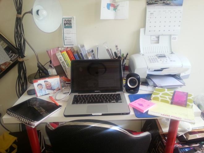 Anshia's desk